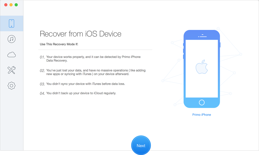 Primo iPhone Recovery