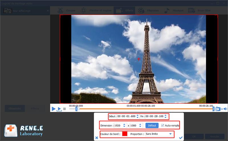 ajouter les effets de zoom à la vidéo