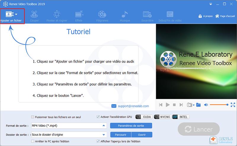 ajouter un fichier dans Renee Video Editor Pro