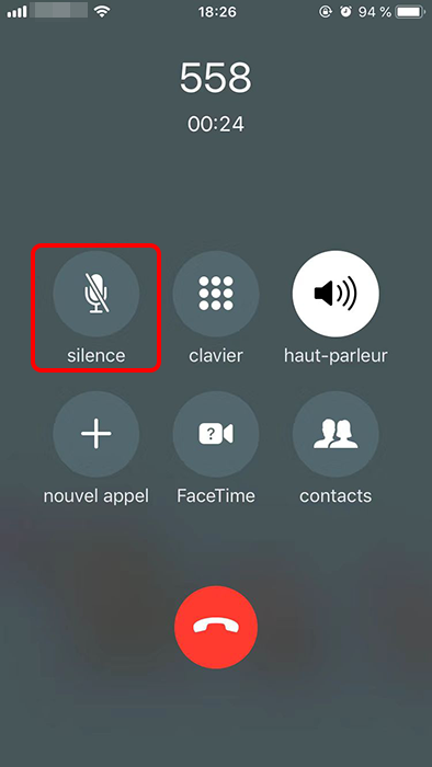 faire l'appel en silence sur iPhone