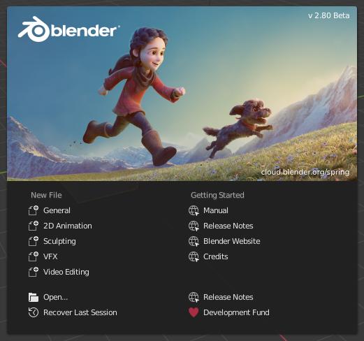 le logiciel Blender