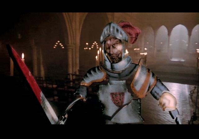 le chevalier qui sort du vitrail