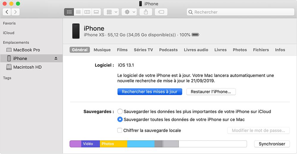 mettre à jour la version iOS avec iTunes