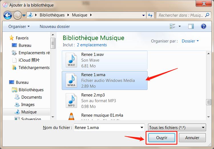 convertir le format audio avec iTunes