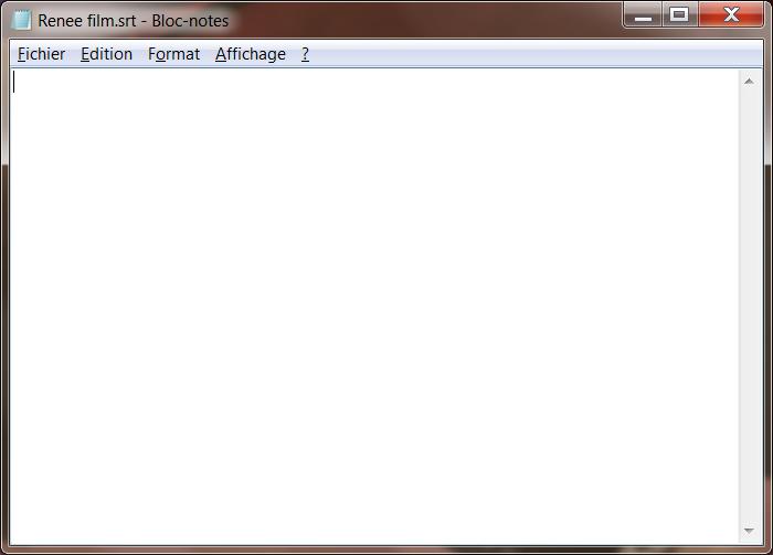 ouvrir un nouveau document de texte