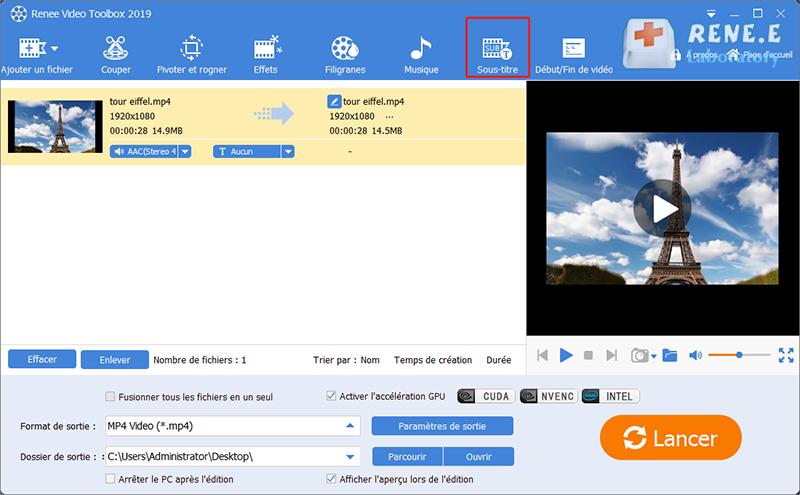 insérer un texte à la vidéo avec Renee Video Editor Pro