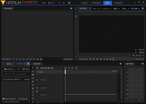 le logiciel Hitfilm express