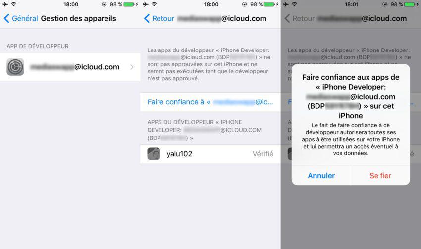 jailbreaker l'appareil iOS