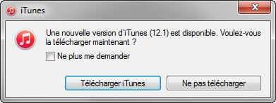 installer la dernière version d'iTunes