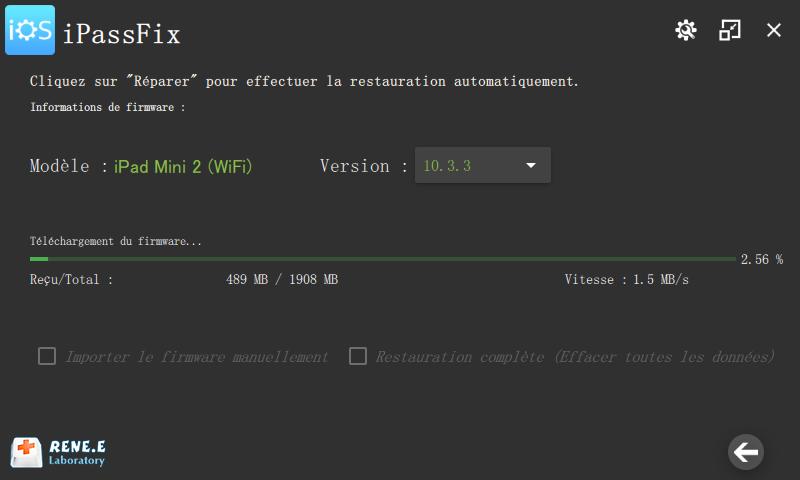 réparer les erreurs sur iPad avec Renee iPassFix