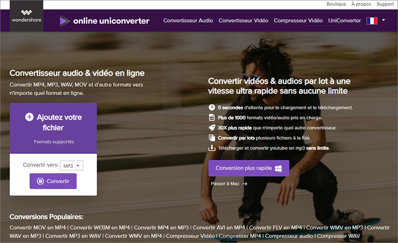 convertir la vidéo en MP3 avec Media.io