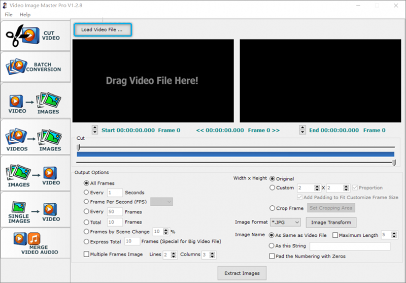 cliquer sur Load video files
