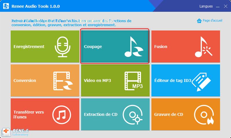 couper l'audio avec la fonction Coupage de Renee Audio Tools