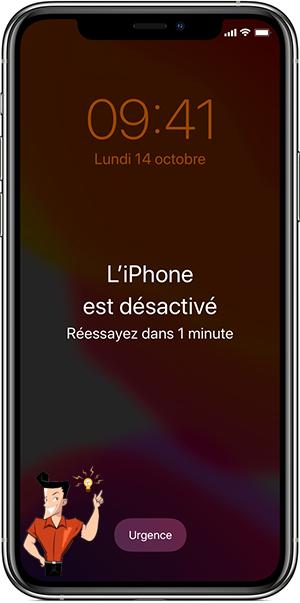 impossible de déverrouiller iPhone