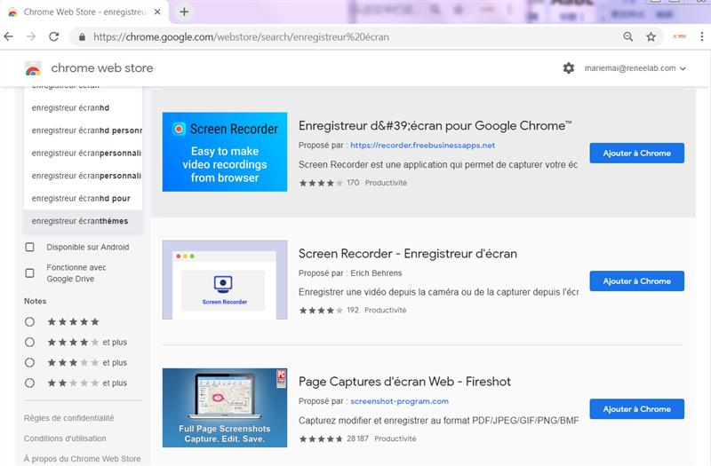 ajouter l'extension à Chrome