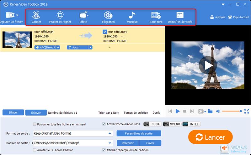 enregistrer l'écran avec un logiciel de capture vidéo Renee Video Editor Pro