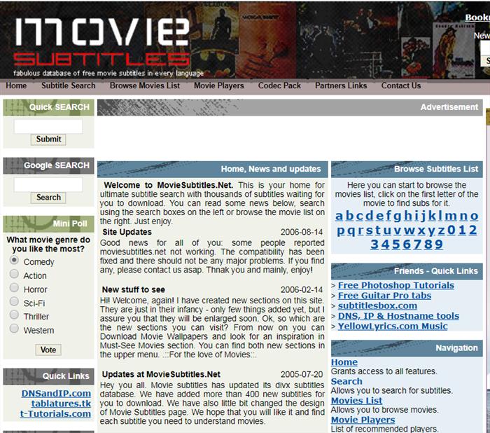 télécharger les sous-titres de film depuis le site en ligne