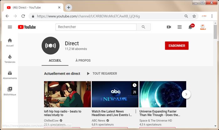 diffuser vidéo en direct sur YouTube