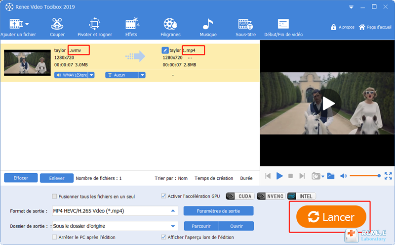 convertir la vidéo de Movie Maker en MP4