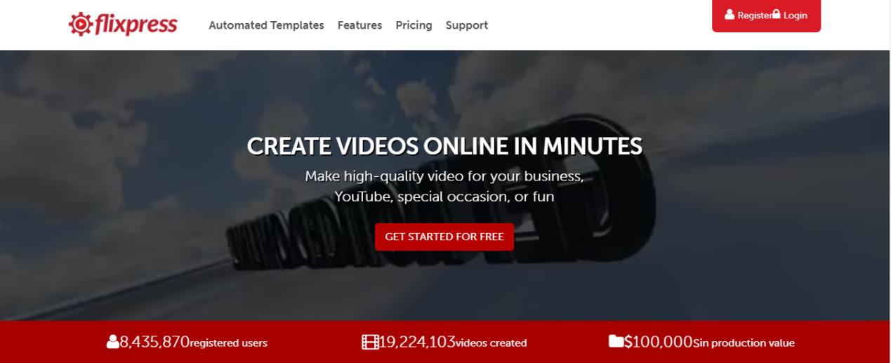 créer l'intro YouTube avec flixpress