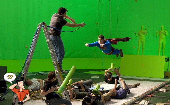 séparer l'acteur sur le fond vert
