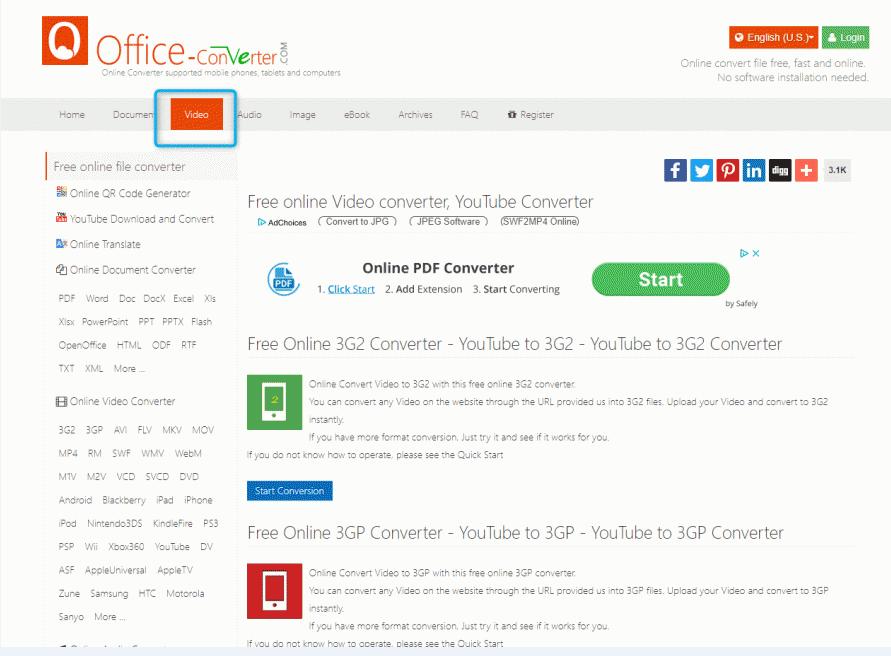 convertir le format rmvb sur le site en ligne