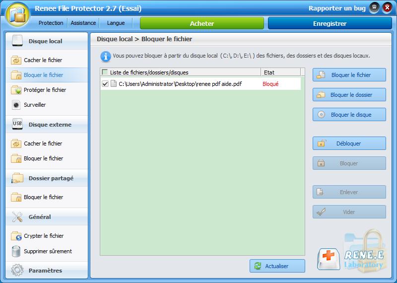 bloquer un fichier PDF