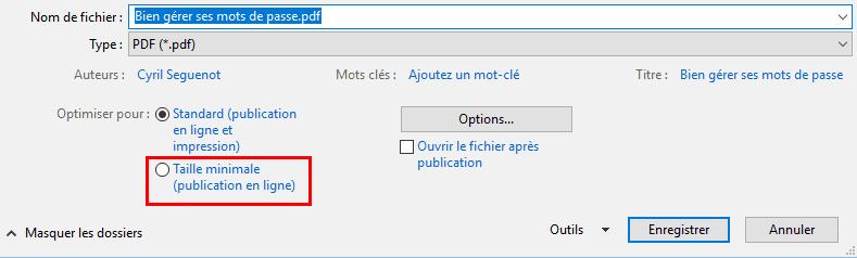réduire la taille du fichier dans Microsoft Word