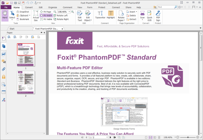 Foxit PDF pour modifier un fichier PDF