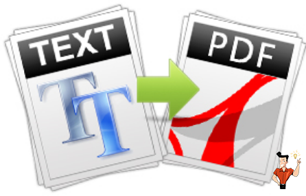 convertir le fichier TXT en PDF