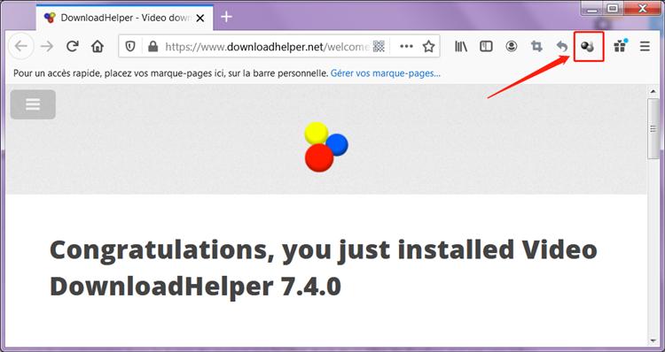 Vidéo Downloadhelper est ajouté au Firefox
