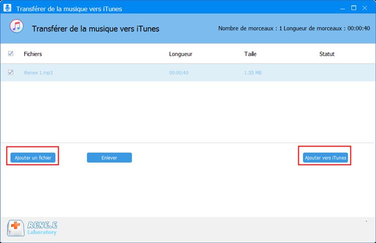 ajouter la sonnerie vers iTunes