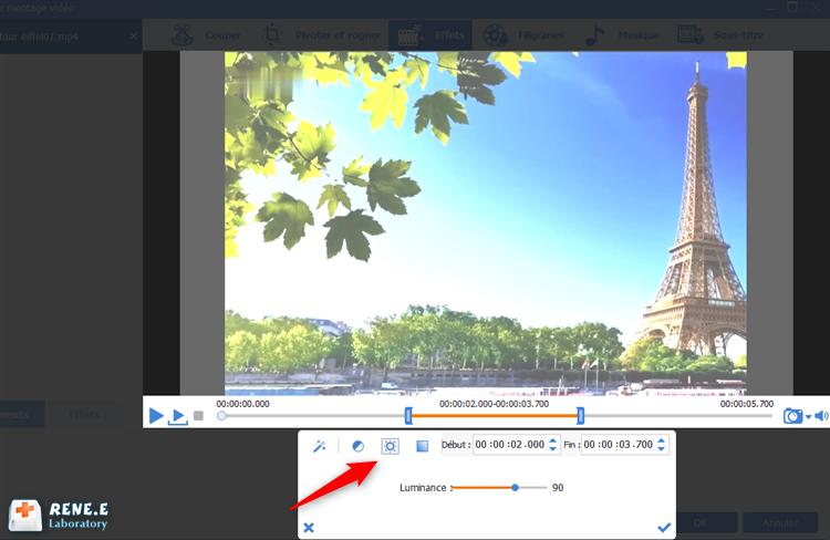 ajuster la luminance de la vidéo