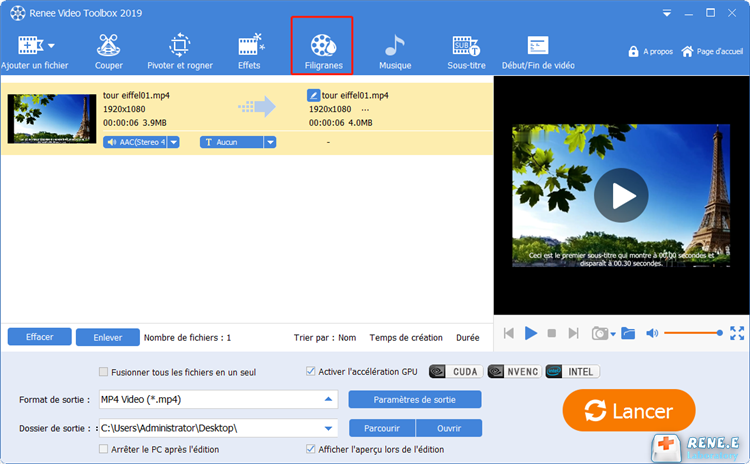 convertir ppt en mp4 via Renee Video Editor Pro