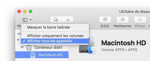 afficher tous les appareils sur MacOS