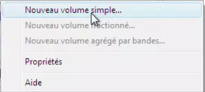 choisir Nouveau volume simple