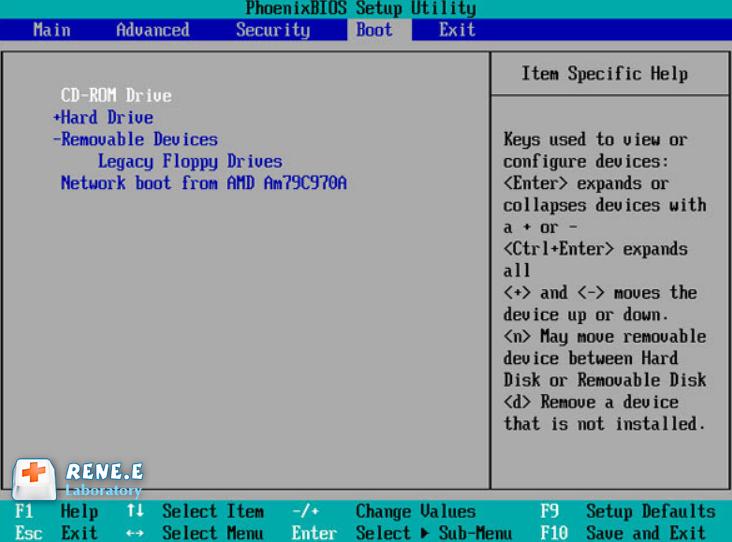 définissez la séquence de démarrage sur CD-ROM