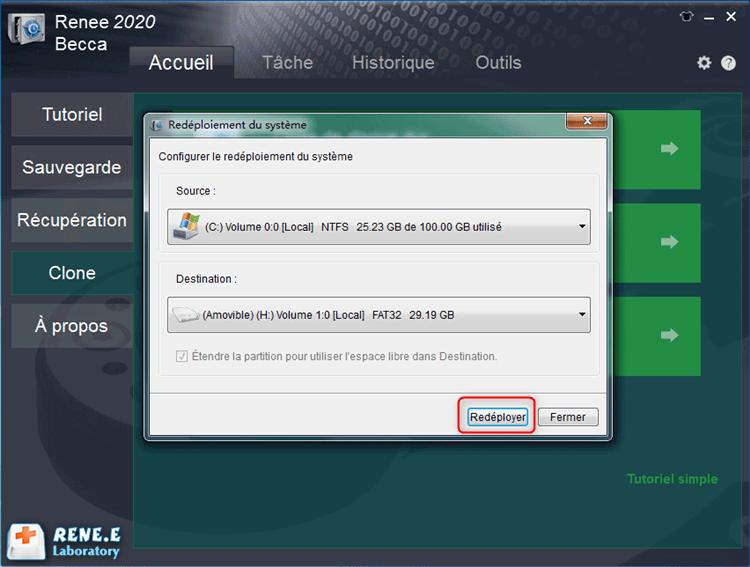 redéploiement du système vers le disque SSD