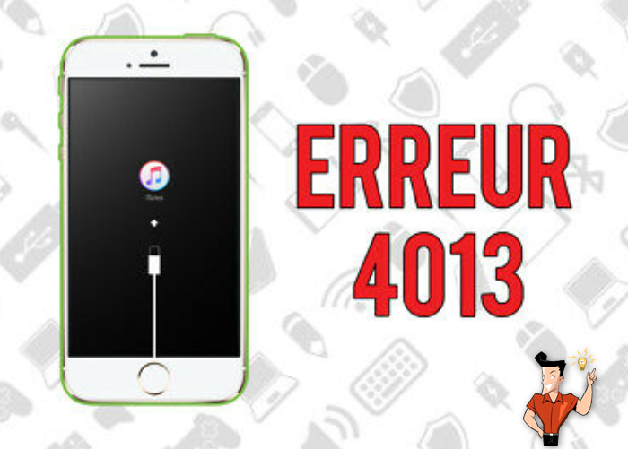 réparer l'iPhone avec l'erreur 4013