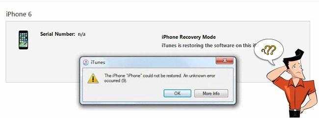 l'utilisateur de iPhone 6 corrige l'erreur 9