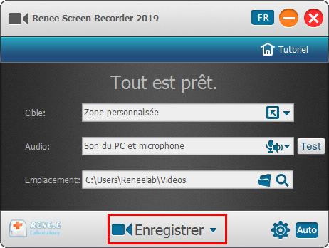 lancer l'enregistrement de Renee Video Editor Pro