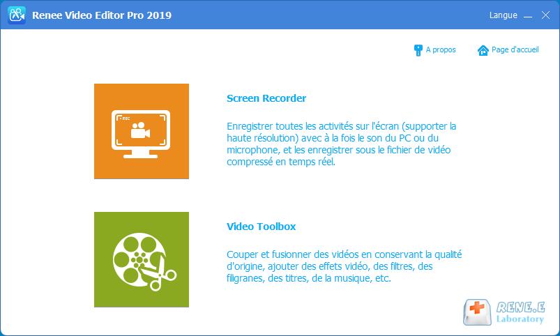 Renee Video Editor Pro est un logiciel de montage vidéo