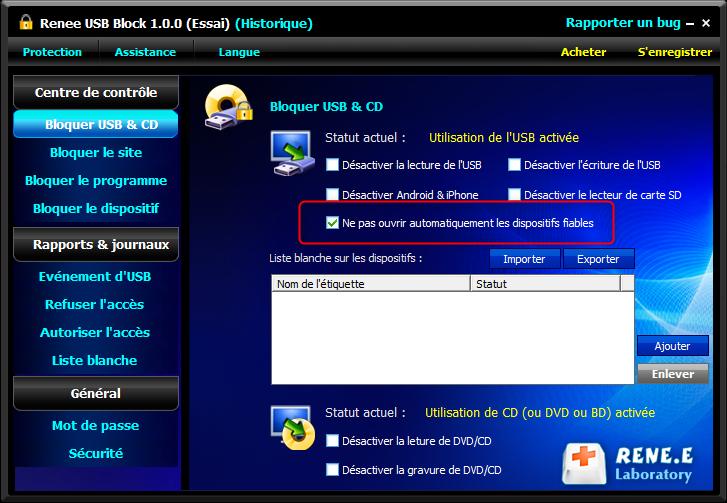 crypter un fichier sur le USB