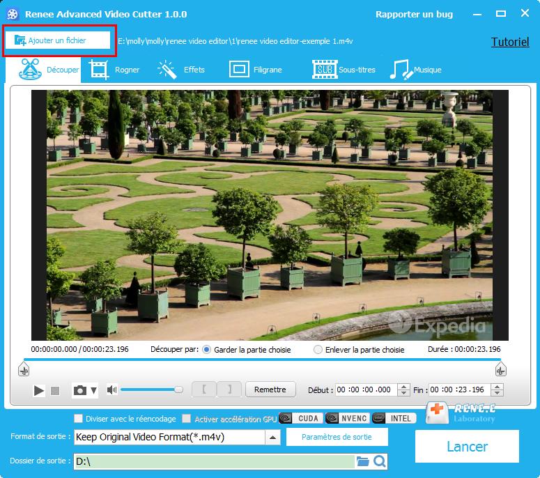 charger la vidéo M4V dans Renee Video Editor