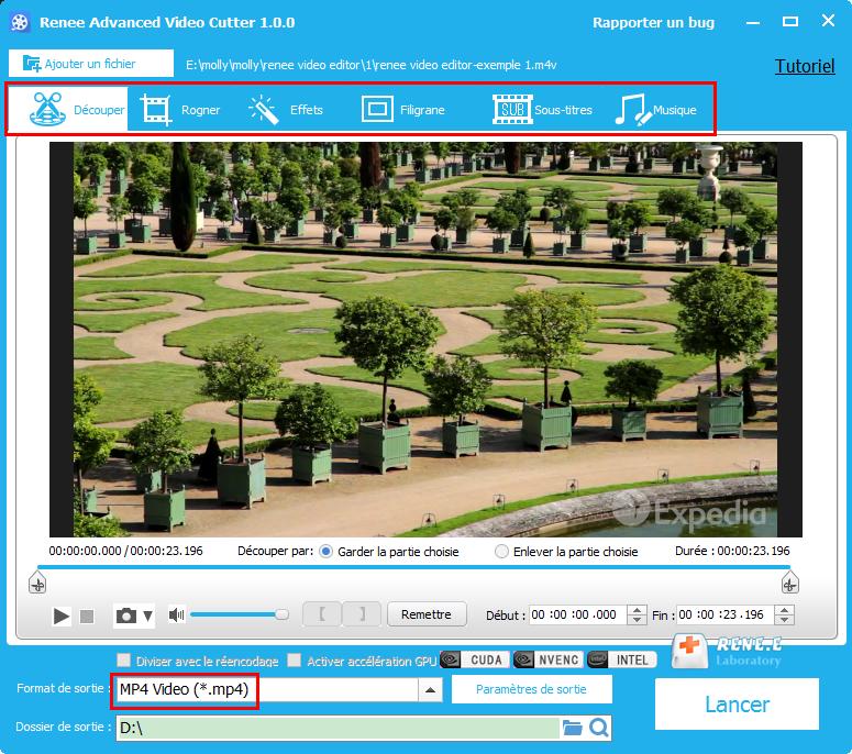 convertir M4V en MP4 avec Renee Video Editor