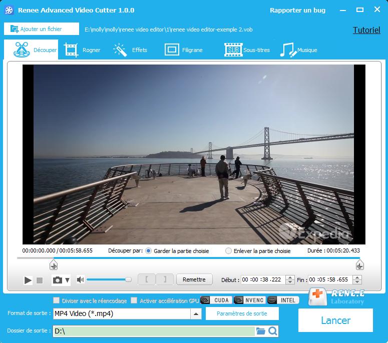convertir VOB en MP4 avec Renee Video Editor
