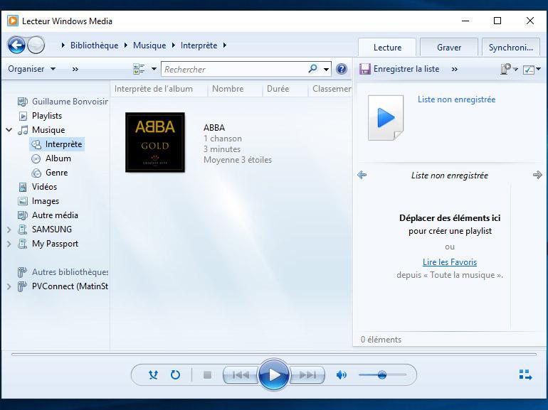 convertir MP4 en WAV avec Windows Media Player