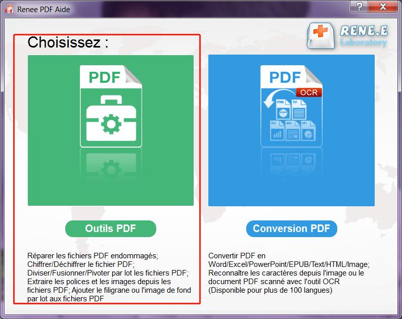 choisir Outil PDF