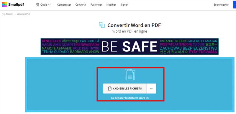 convertir un fichier consulté au format PDF