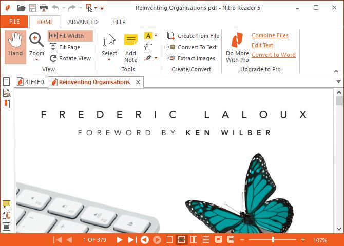 convertir pdf en ppt via Nitro Pro Alternative